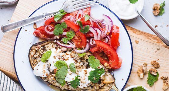 receta de temporada phenix berenjenas rellenas veganas