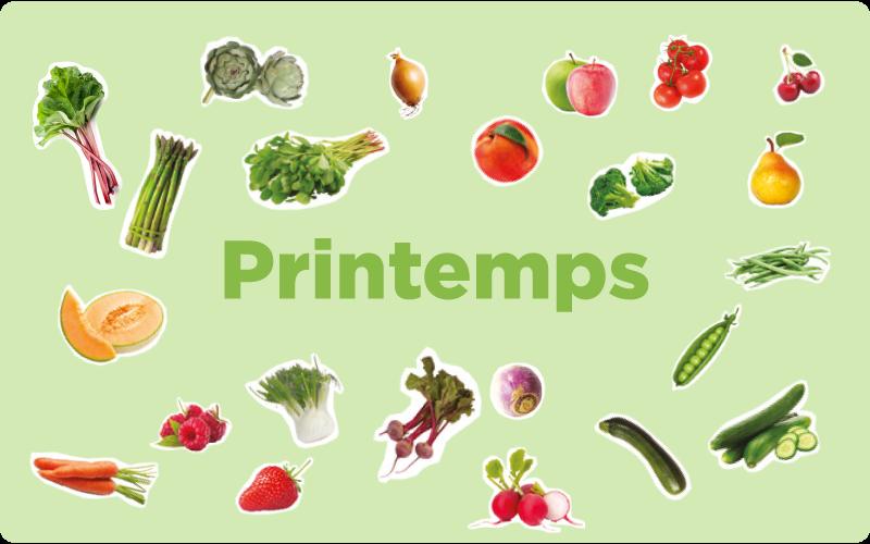 les-fruits-et-légumes-du-printemps